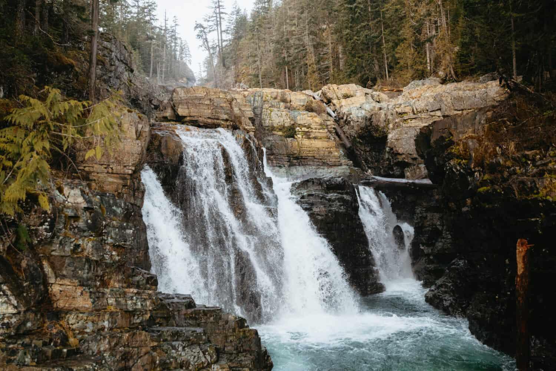 Myra Falls in Strathcona Provincial Park, British Columbia