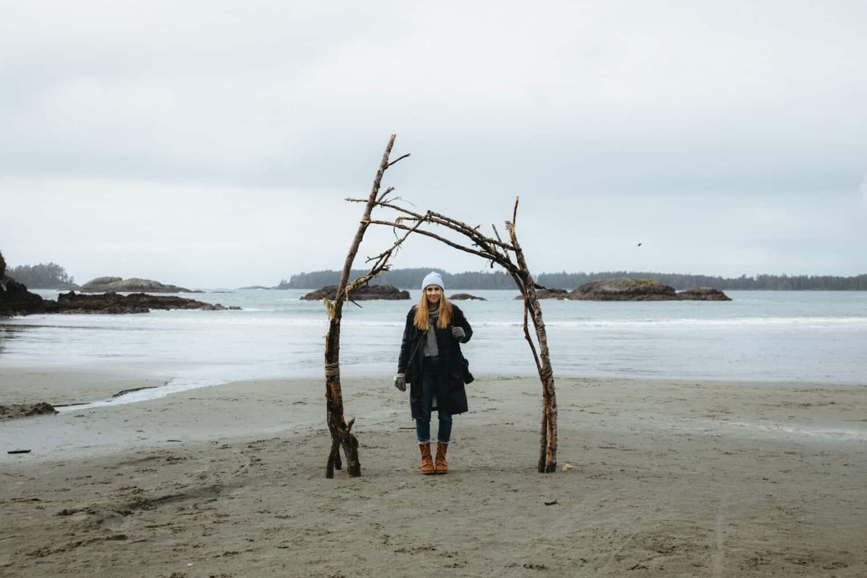Emily Mandagie at Mackenzie Beach