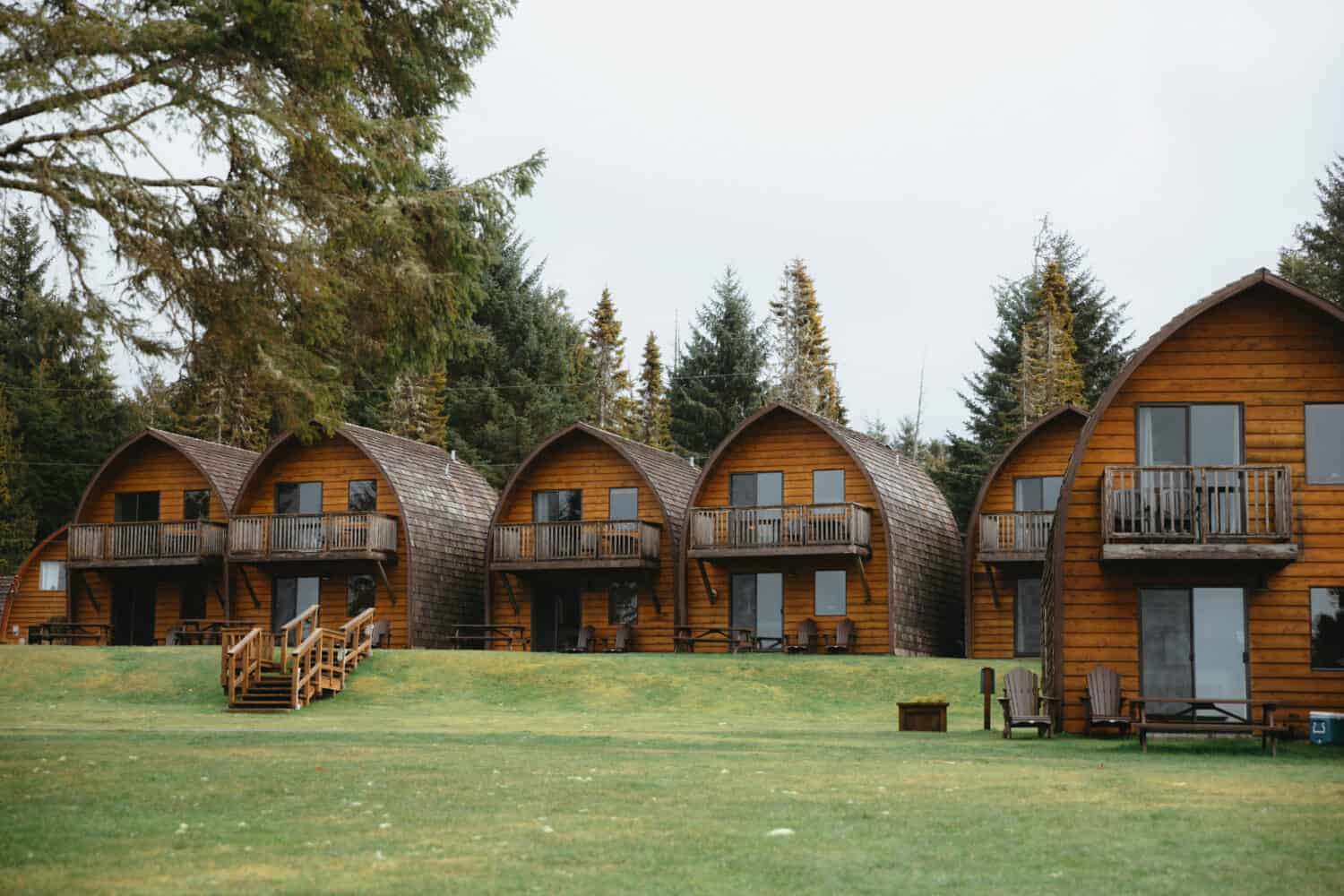 Ocean Village Resort Cabins in Tofino, BC