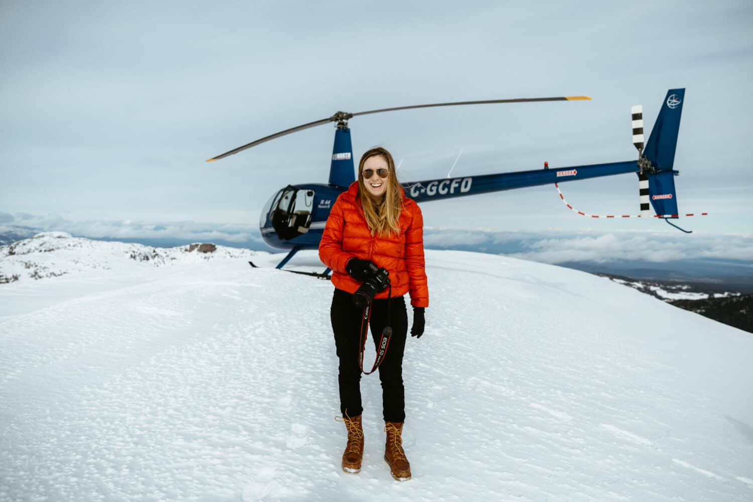 Emily with 49 North Helicopters - Campbell River, BC - Strathcona Provincial Park - TheMandagies.com