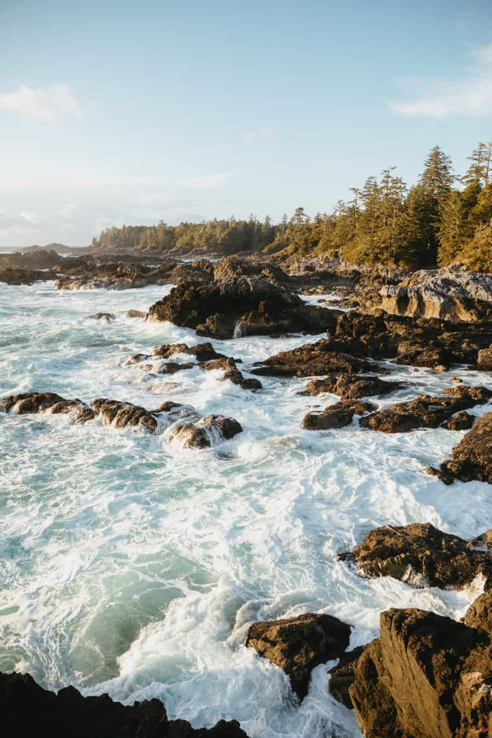 Wild Pacific Coast in Ucluelet, Vancouver Island