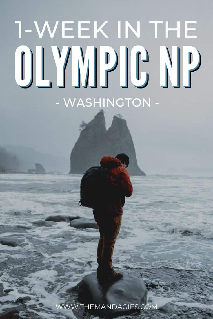 Taking a trip to Washington's very own Olympic Peninsula? We've got the ultimate guide of things to do in Olympic National Park, filled to the brim with adventure! From Rialto Beach to the Hoh Rainforest, we're sharing everything in this post. Save it for your next adventure! #washington #Unitedstates #olympicnationalpark #olympicnps #PNW #pacificnorthwest #travel #westernUSA #photography #landscape #temperaterainforest #hurricaneridge #solducfalls #hohrainforest