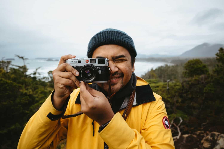 Berty Mandagie with Leica M6