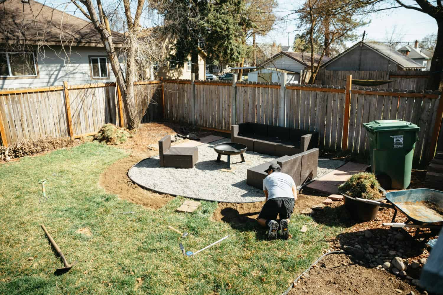 Removing sod for flower beds - TheMandagies.com