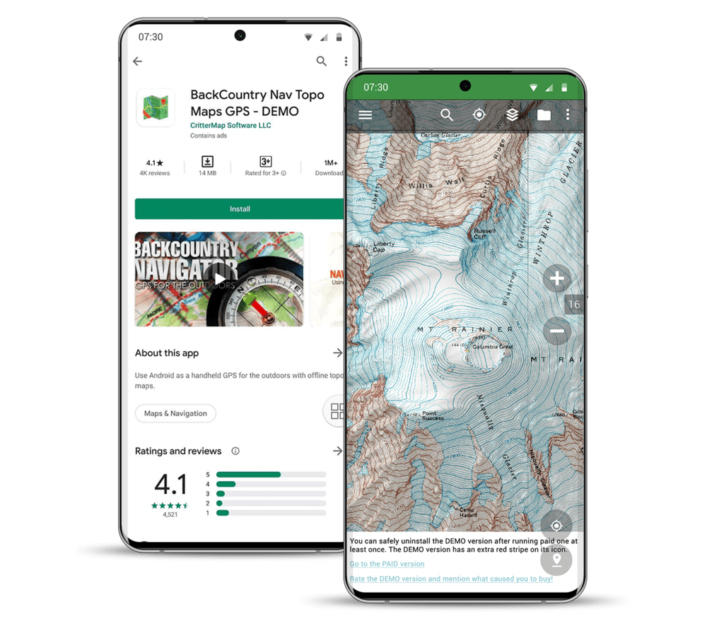 Best Hiking GPS App - Backcountry Navigator Pro