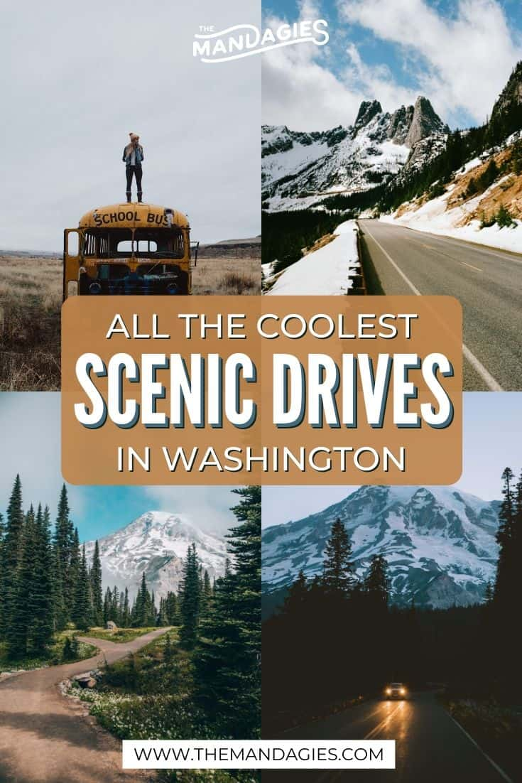 Looking for an easy way to get our and explore the Evergreen State this season? We're sharing the best scenic drives in Washington state right here! Save this post for future inspiration for a road trip in Washington State! #washingtonstate #olympicnationalpark #northcascades #mountrainier #roadtrip #scenicdrive #travel #washington #PNW #pacificnorthwest #mountains #USA