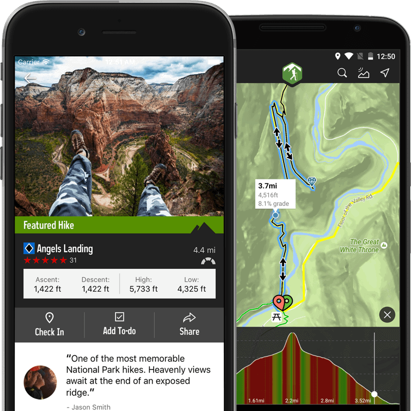 The Hiking Project Trail App Interface