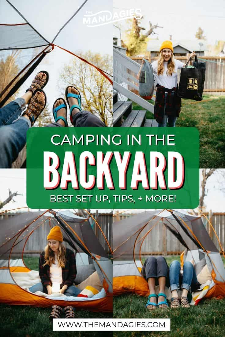 Stuck at home but wish you were camping? We're sharing all the ways you can make a backyard campout just as good, (or better!) with these brilliant at home camping tips! #camping #backyardcamping #tentcamping #roastingsmores #sunrise #westernUSA #photography #campingadventure