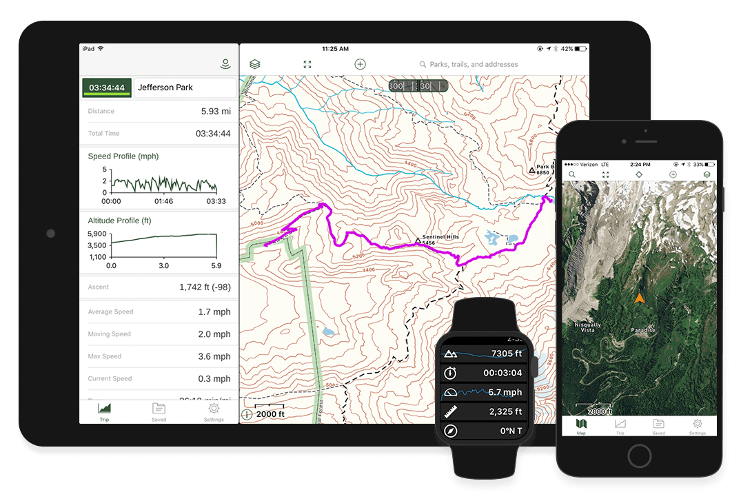 Best GPS App for Hiking - GAIA