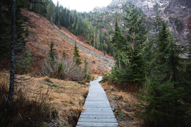 Boardwalk on Lake Twentytwo Trail, Washington