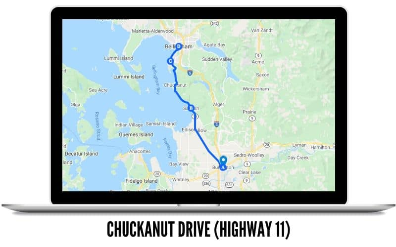 Chuckanut Drive Route Map - Washington State Scenic Drives