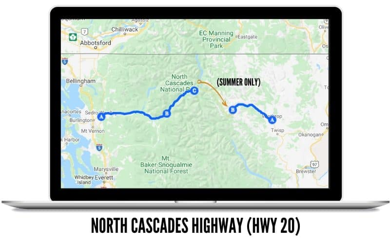 North Cascades Highway Route Map