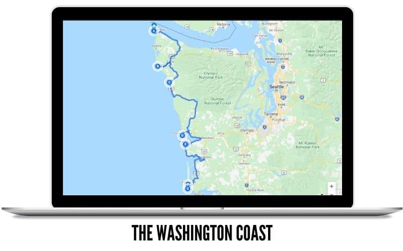 The Washington Coast Driving Route Map - Washington State Scenic Byways