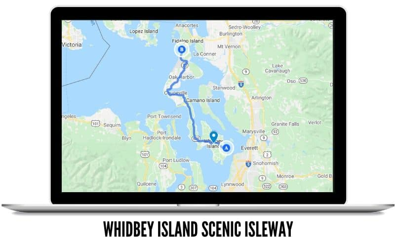 Whidbey Island Scenic Isleway Route Map - Scenic Drives In Washington State
