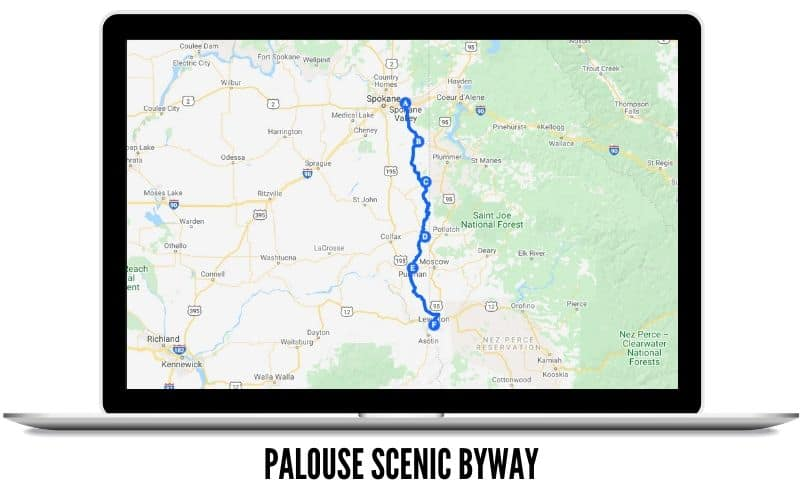 Palouse Scenic Byway Route Map - Best Scenic Route In Washington State