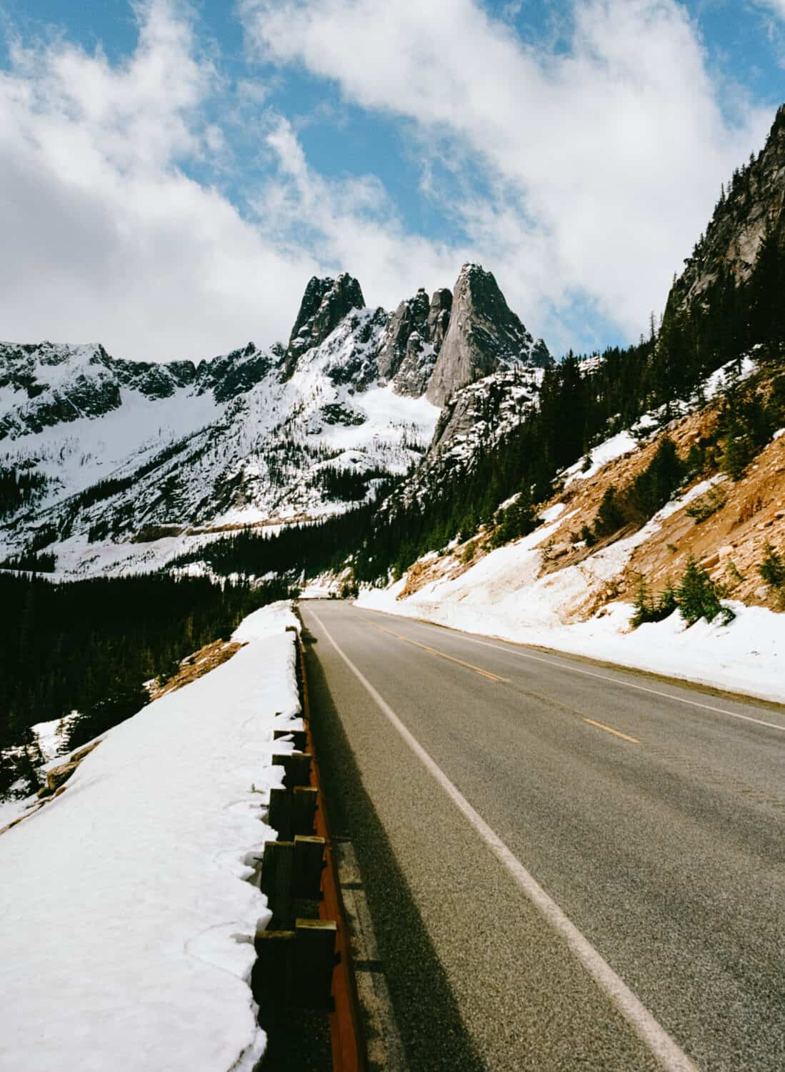 View of Liberty Bell from Best Scenic Drive in Washington State - North Cascades Scenic Highway