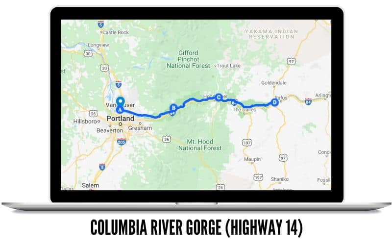 Columbia River Gorge Driving Route Map - Scenic Drives In Washington State