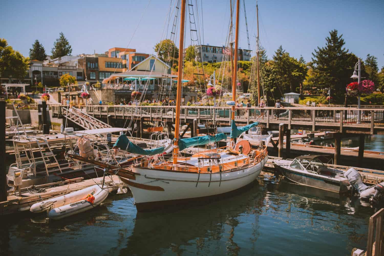 View From Friday Harbor Pier, San Juan Island Washington