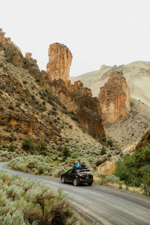 Driving Around Eastern Oregon - Car In Desert