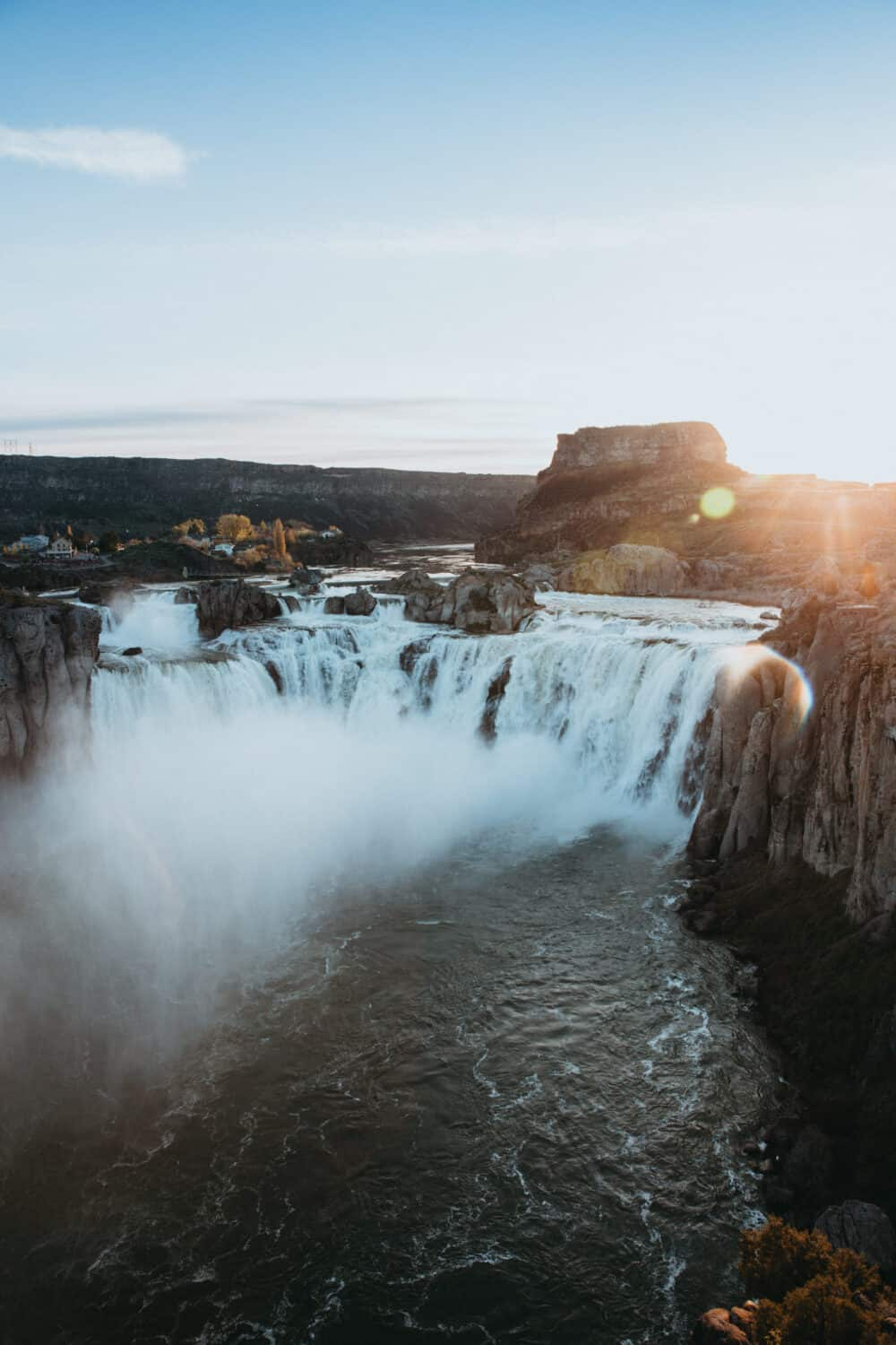 Shoshone Falls at Sunrise - Weekend trips from Boise ID to Twin Falls