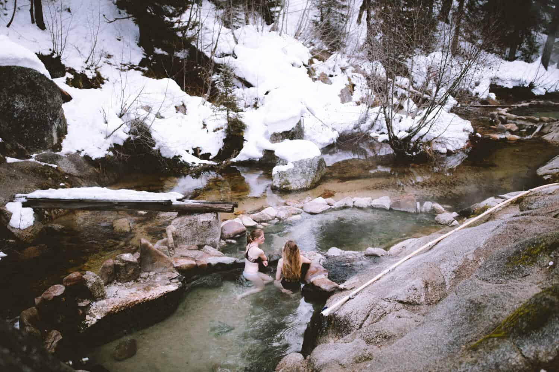 Upper pools at Trail Creek Hot Springs in Idaho