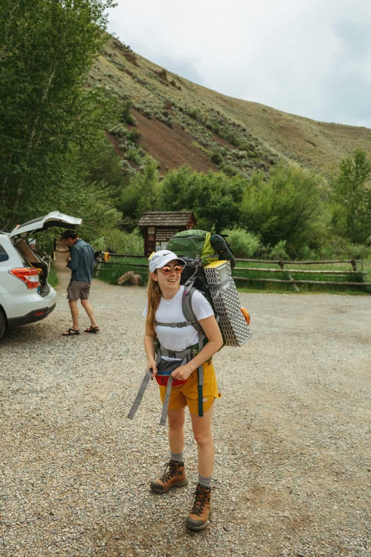 Emily Mandagie at Goldbug Hot Springs Trailhead, Idaho
