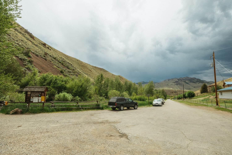 Goldbug Hot Springs Parking Lot, Idaho