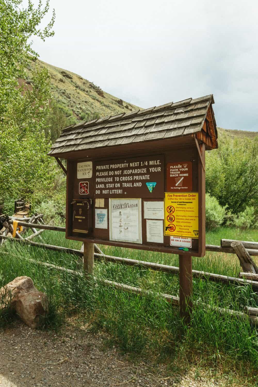 Goldbug Hot Springs Trailhead Sign