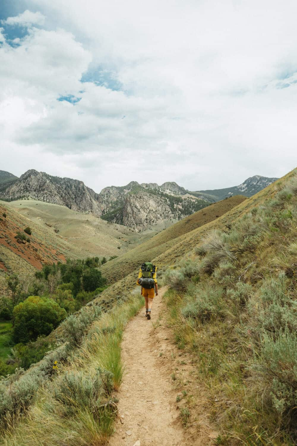 On the trail to Goldbug Hot Springs in Elk Bend, Idaho