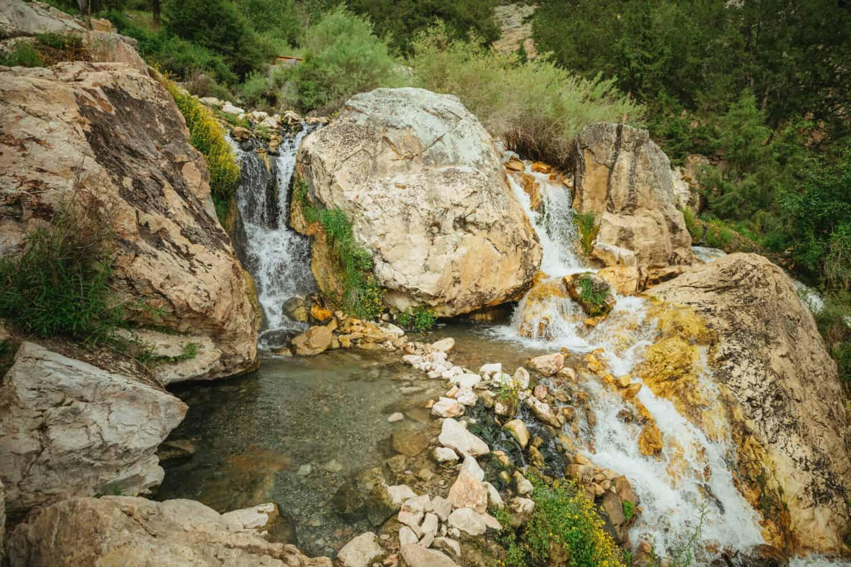 Waterfall pools at gold bug hot springs