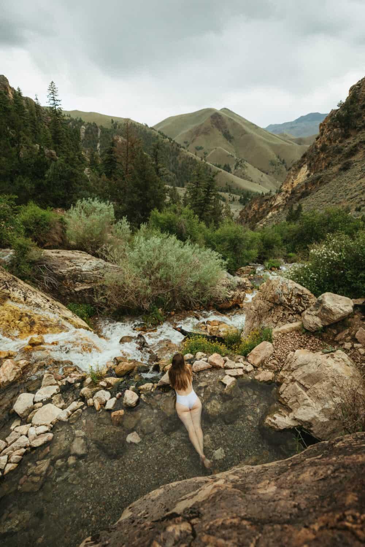 Emily Mandagie at Goldbug Hot Springs