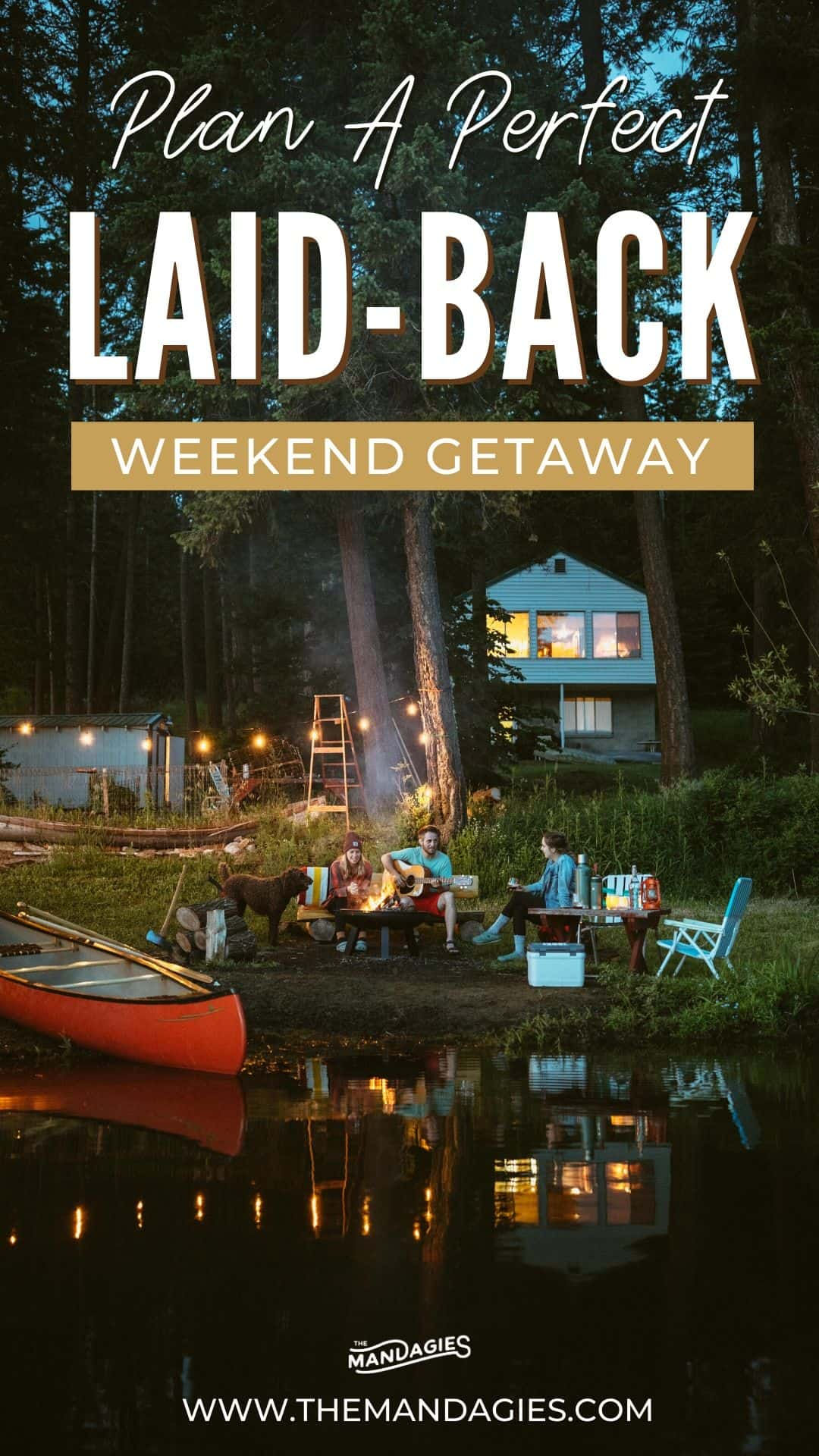 Want to plan a weekend getaway but don't want to travel far? We've got you covered! In this post, we're sharing how to plan the perfect low-key, laid back weekend getaway close to home, and sharing all the gear and activities for some fun summer memories. Save this for your next local trip inspiration! #laidback #weekendgetaway #localtravel #travel #summer #lake #canoe #fire #campfire #tacos #coffee #stanleybrand #stanleyPMI