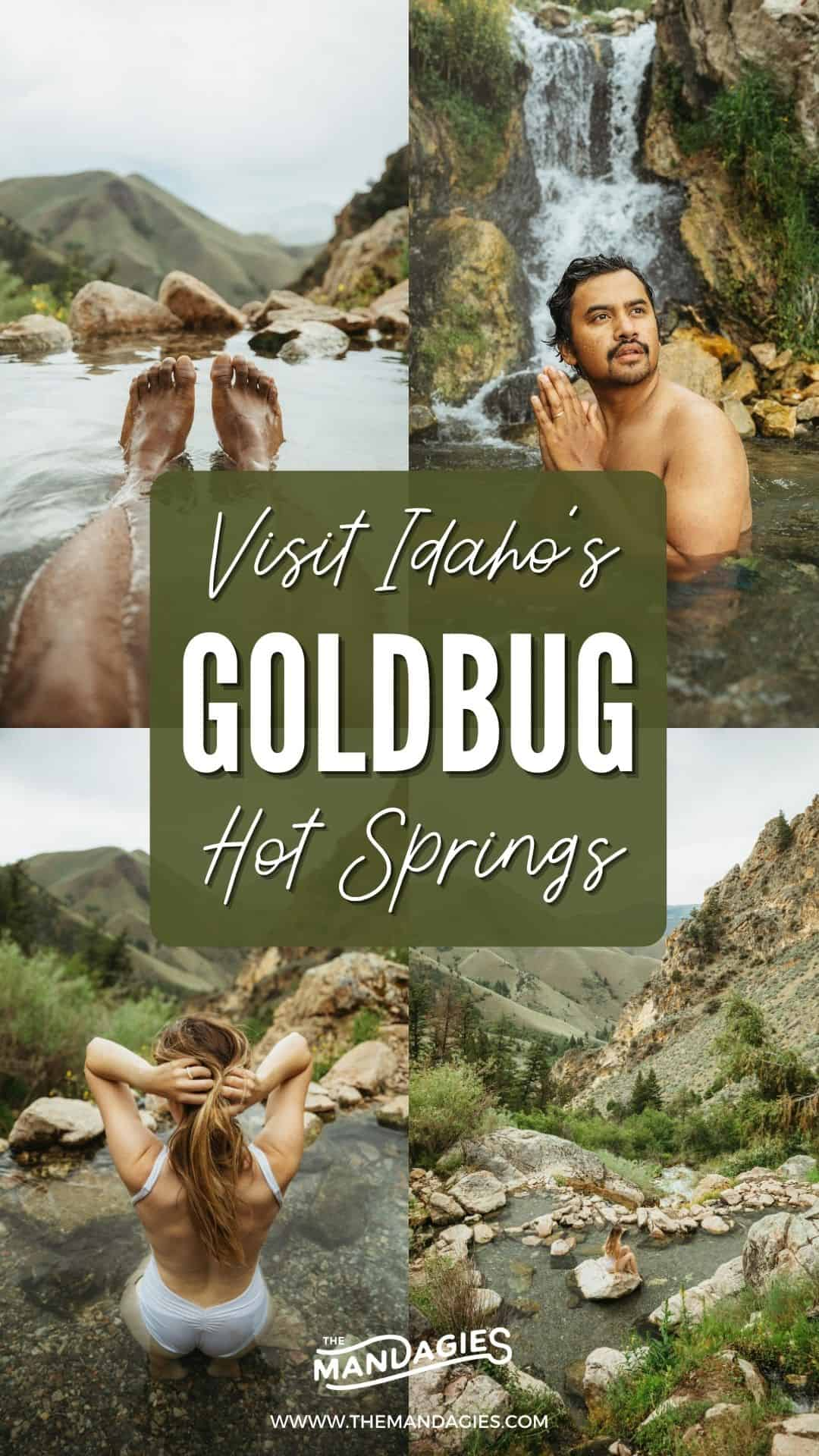 Goldbug Hot Springs is the trifecta of fun in Idaho - hiking, camping, and of course, hot springs! Click here to learn more about planning your own rad trip, and what to expect on the trail, rules for camping, and all the details to plan your own magical getaway in the Gem State. #idaho #hotsprings #stanleyidaho #Roadtrip #summer #hiking #camping #salmonriver #goldbug #mountains #travel #USAtravel #usa #photography #sunset