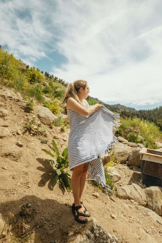 Emily Mandagie at Sunbeam Hot Springs Idaho
