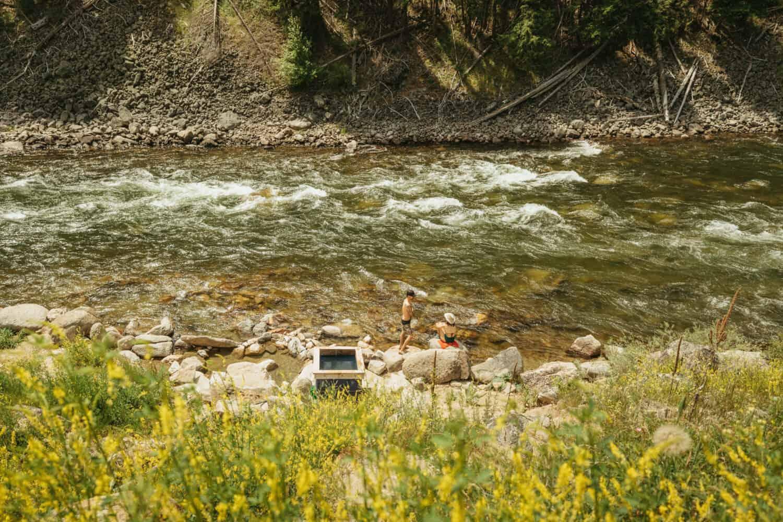 Riverside tub at Sunbeam Hot Springs