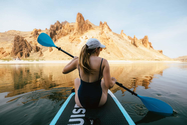 Paddleboarding on the Owyhee Reservoir