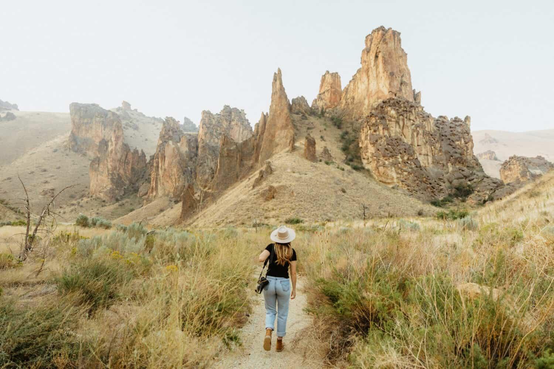 Emily Mandagie Leslie Gulch Hiking