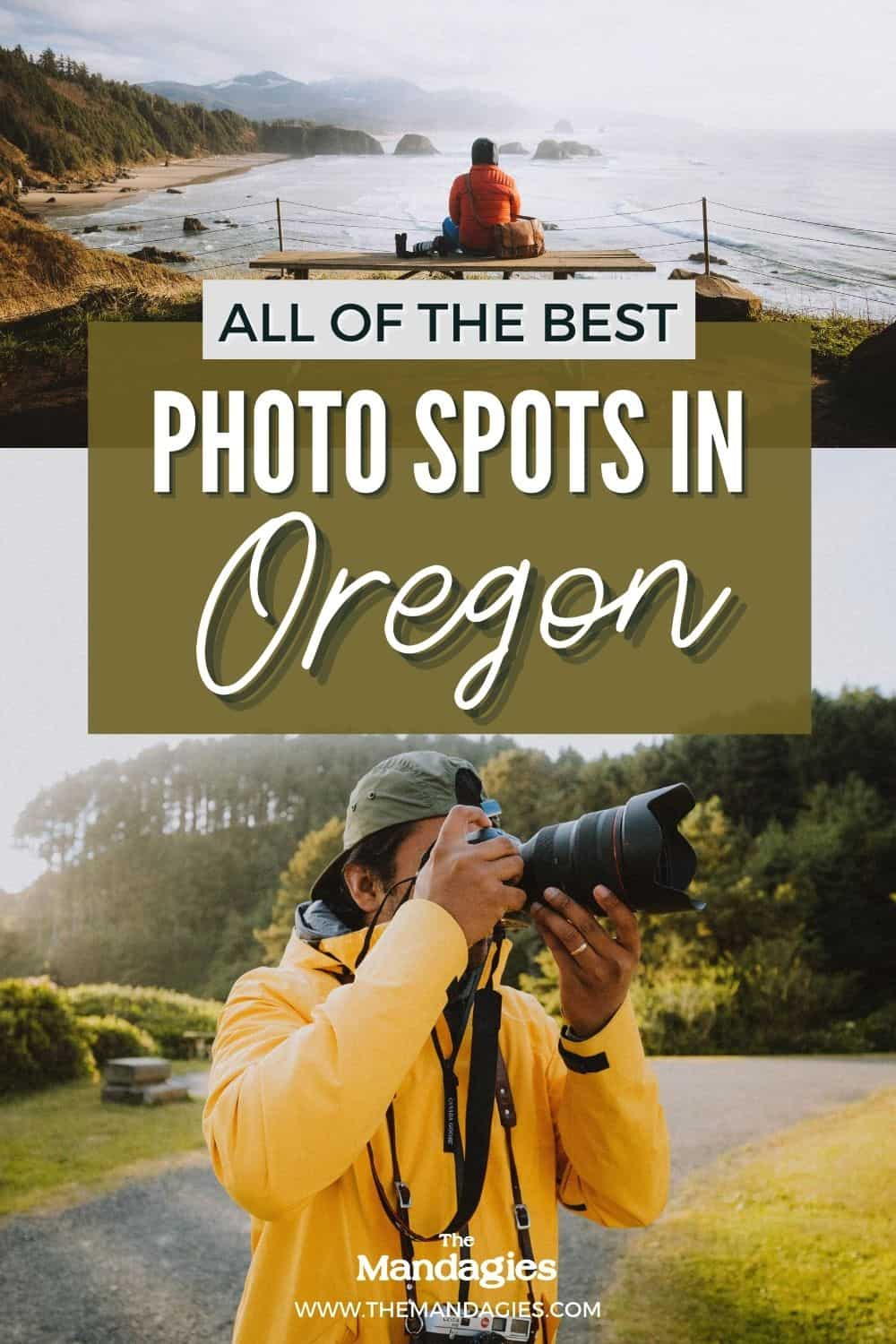 Looking for the best places to visit in Oregon? In this post, we're sharing Oregon's coolest photography locations, including iconic spots like Cannon Beach and Samuel H Boardman, but also secret hot springs, remote waterfalls, and more! Save this post for your next trip to Oregon! #Oregon #Oregoncoast #WestUSA #PNW #roadtripUSA #USAroadtrip #roadtrip #pacificNorthwest #multnomahfalls #cannonbeach #mountahood #cascademountains #portland #eugene