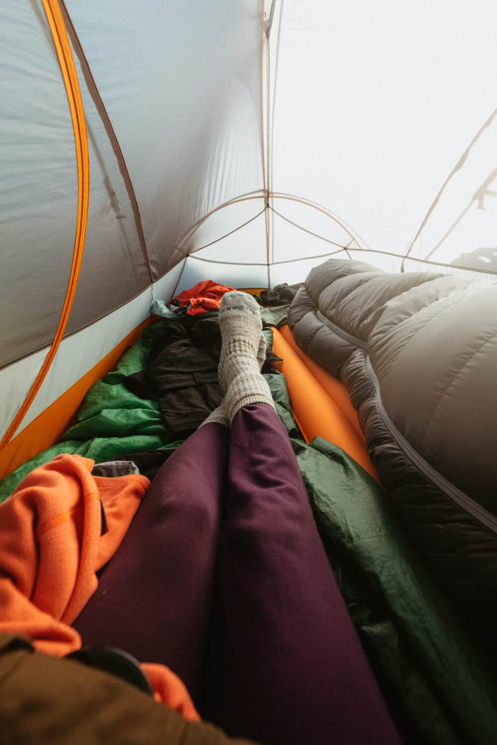 Sleeping clothes for camping hygiene