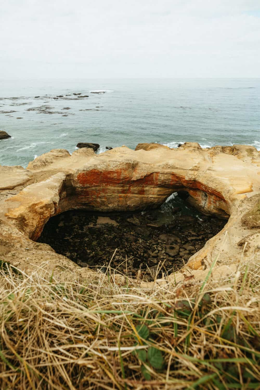 Sea Cave at Devil's Punchbowl Oregon