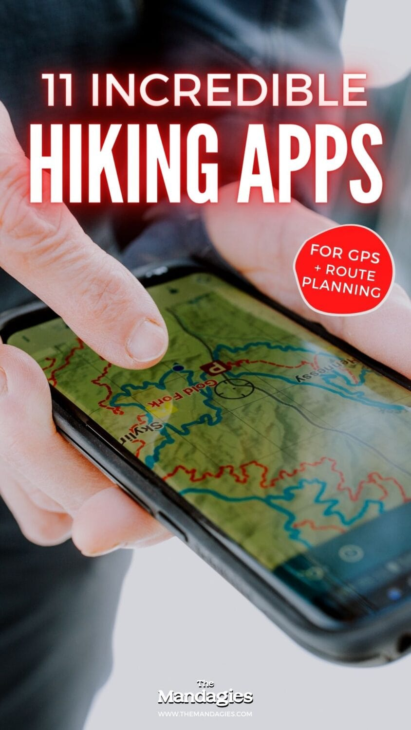 Do you love knowing everything about your next hiking trail? We're sharing the best hiking apps to download, with features like offline topography maps, mountain identification, GPS tracking, and so much more! Read this blog post to pick your next favorite app for hiking! #hiking #hikes #PNW #PacificNorthwest #skiing #snowboarding #backcountry #backpacking #GPS #mountains #travel #USAtravel #usa #navigation #tripplanning #nationalparks