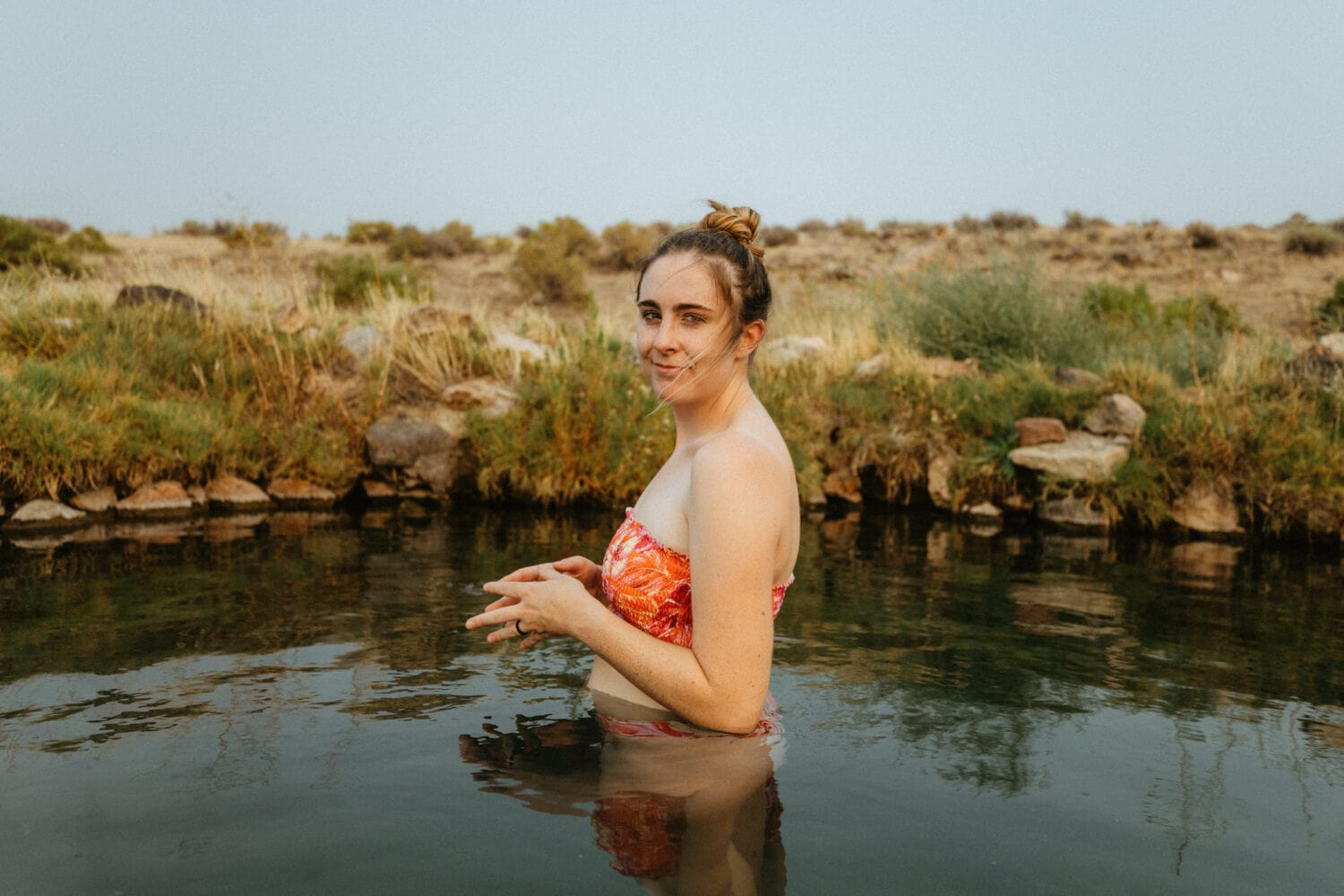 Emily Mandagie in Willow Creek Hot Springs - Eastern Oregon
