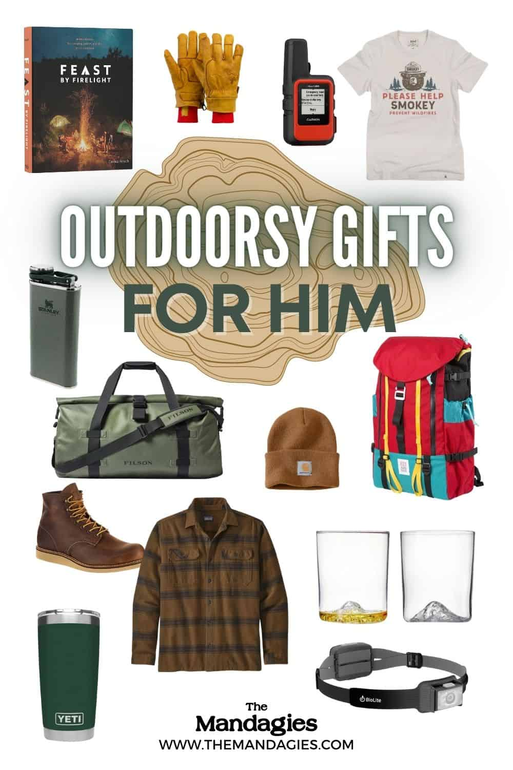 Looking to find the perfect gifts for outdoorsy men? We're sharing durable & dependable products that they can't wait to take on their next adventure! Save this post for gift ideas for men, including whiskey glasses, working gloves, duffel bags, and carhartt beanies! #gifts #giftideas #christmas #giftguide #giftsformen #presents #christmasgifts #mensgifts