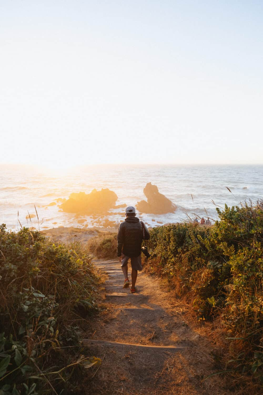 Berty Mandagie at sunset during Patricks Point California