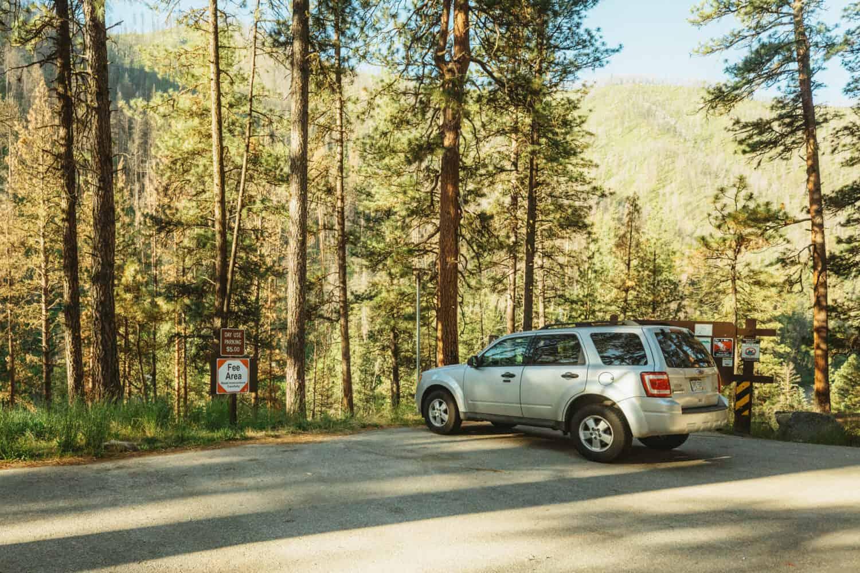 Pine Flats Hot Spring Parking Lot