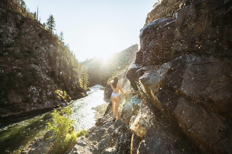 Emily Mandagie at Pine Flats Hot Springs in Idaho