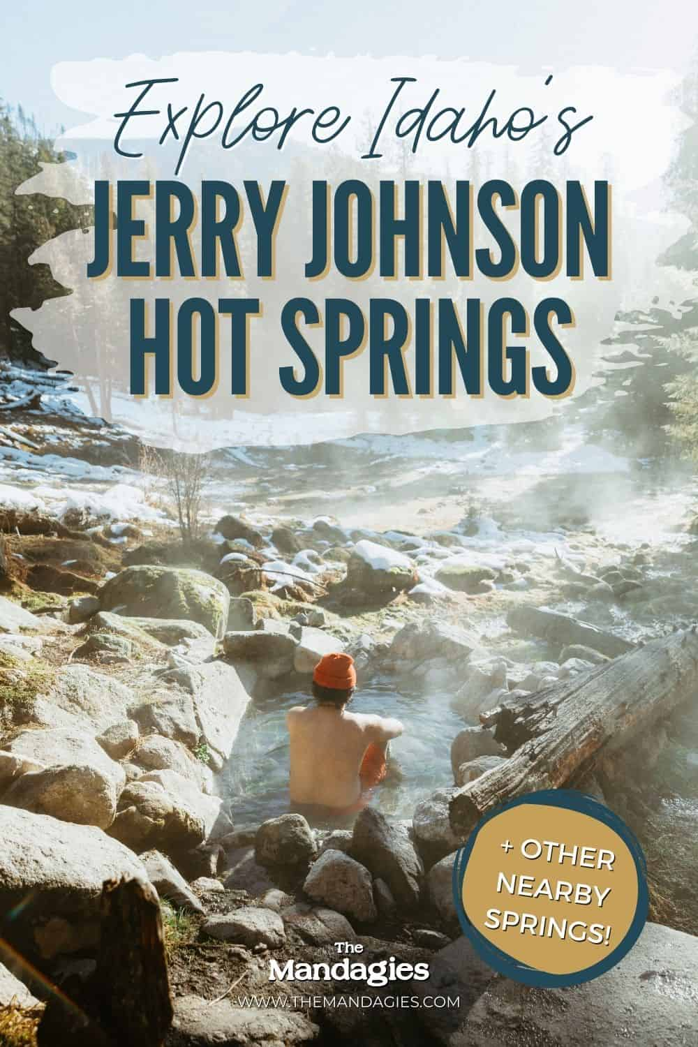 Jerry Johnson Hot Springs in Central Idaho is one of the coolest hot springs in Idaho! We're sharing how to get to the Lolo Pass area, what to pack for your hot springs day hike, and nearby hot springs near Missoula and North Idaho. Save this post for your next beautiful Idaho road trip! #westcoast #roadtrip #americanroadtrip #idaho #PNW #hotsprings #idahohotsprings #mountains #lolopass #missoula