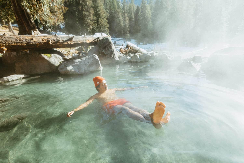 Berty Mandagie enjoying Jerry Johnson Hot Springs