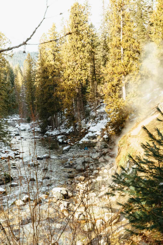 Waterfall Pools at Jerry Johnson hot springs Idaho