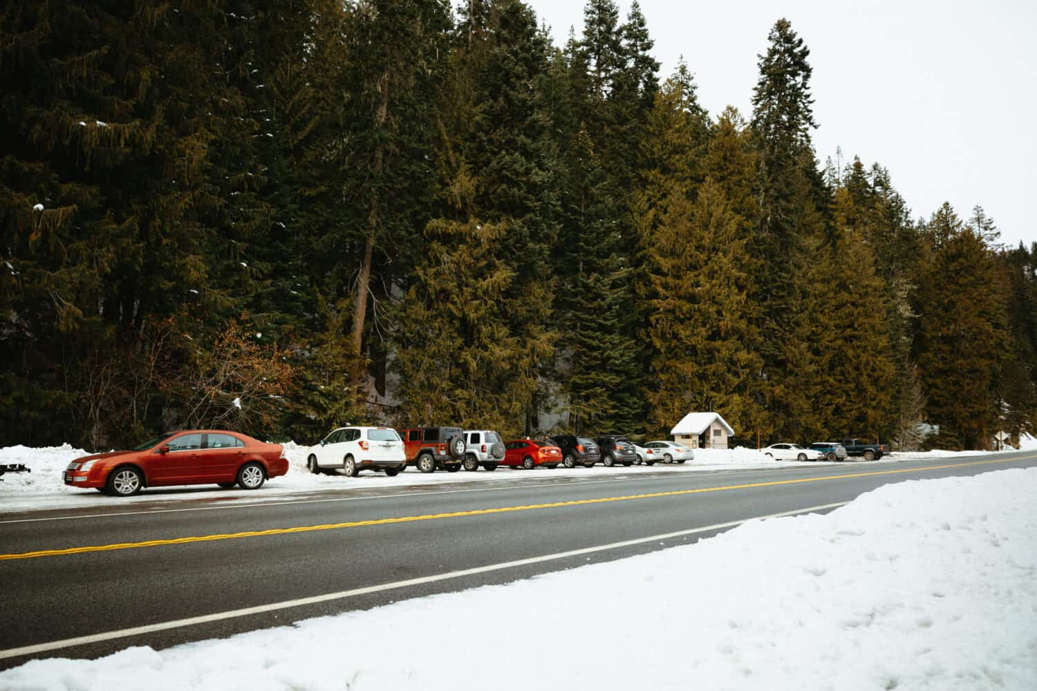 Warm Springs Trail Parking Lot in Lolo Pass